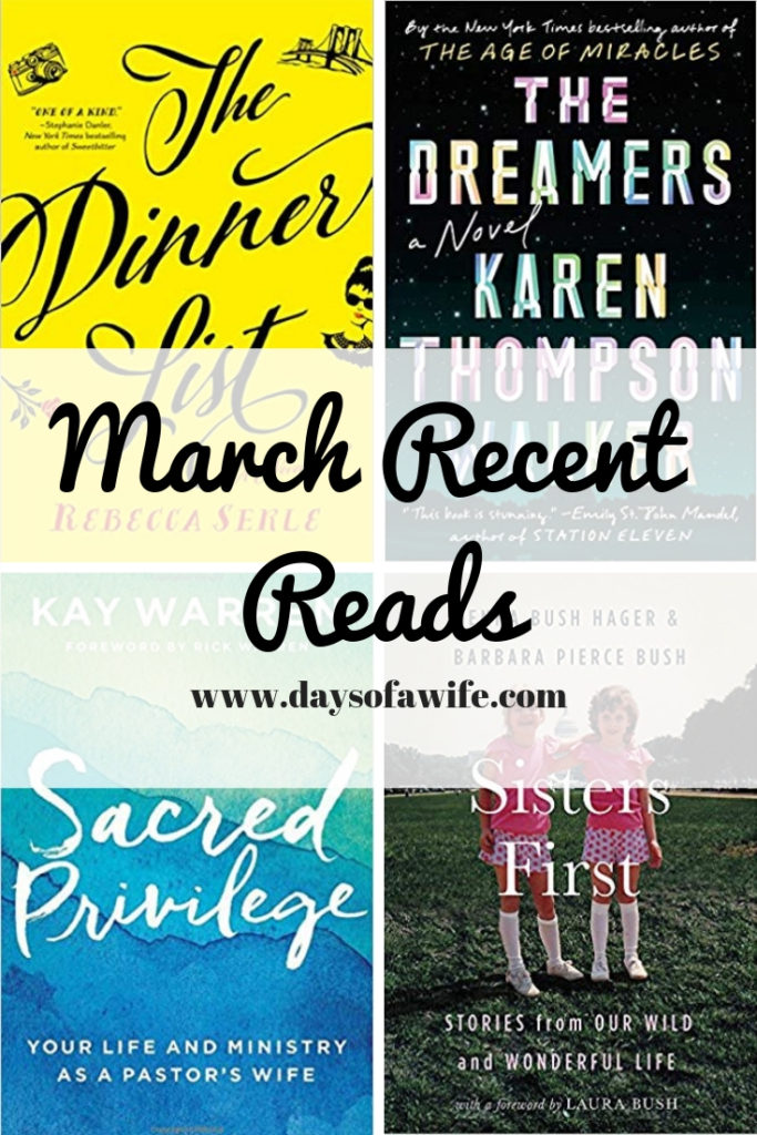 March Recent Reads by daysofawife.com